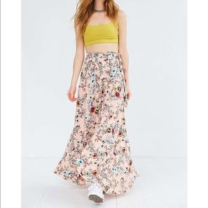 Urban Outfitters Floral Tulip Wrap Maxi Skirt